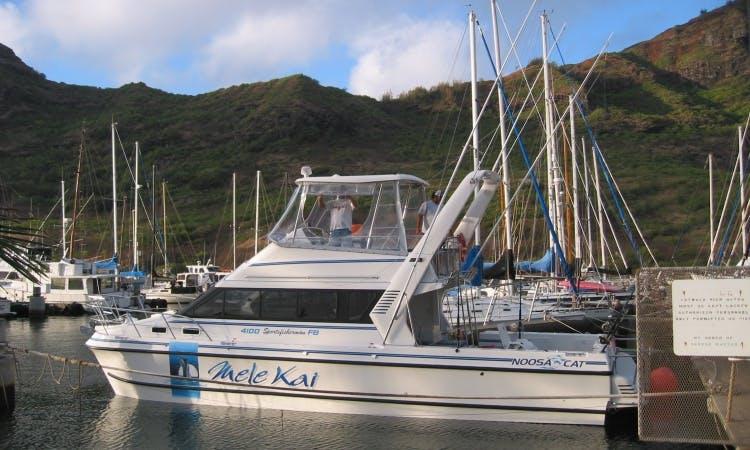 "Fishing Charter On 41ft ""Mele Kai"" Yacht Captain Harry"