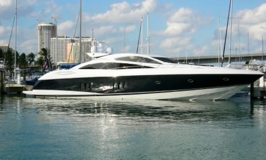 Charter 82' Sunseeker Predator Yacht In Miami