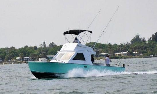 37ft Inboard Propulsion Boat Fishing Charter In Sebastian, Florida