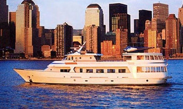 "Enjoy the ""Abigail K"" Party Mega Yacht on New York Harbor"
