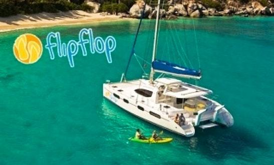 Charter 46' Flip Flow Catamaran Yacht In Caribbean