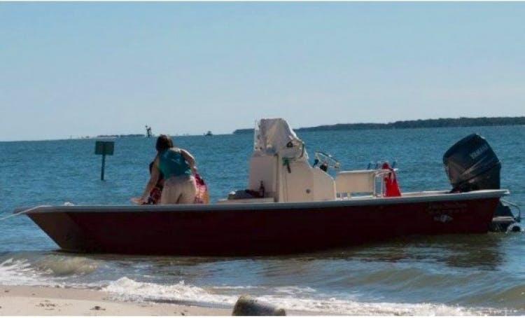 Rent 20ft Jones Brother Bateau Boat In Beaufort, North Carolina