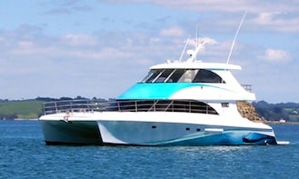 """Captained Charter on """"Lady Harriet"""" 50ft Motor Yacht in Auckand, New Zealand"""