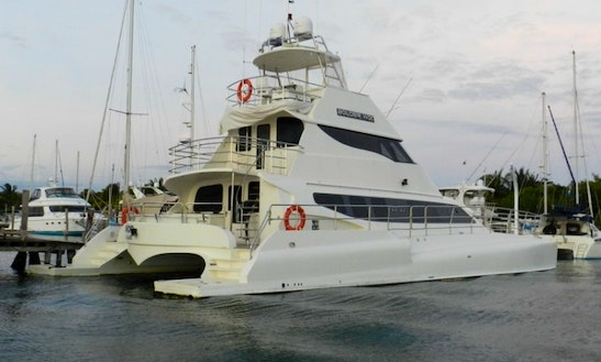 Charter The 74' Vip Luxury Bolder Power Catamaran In Cancún, Quintana Roo