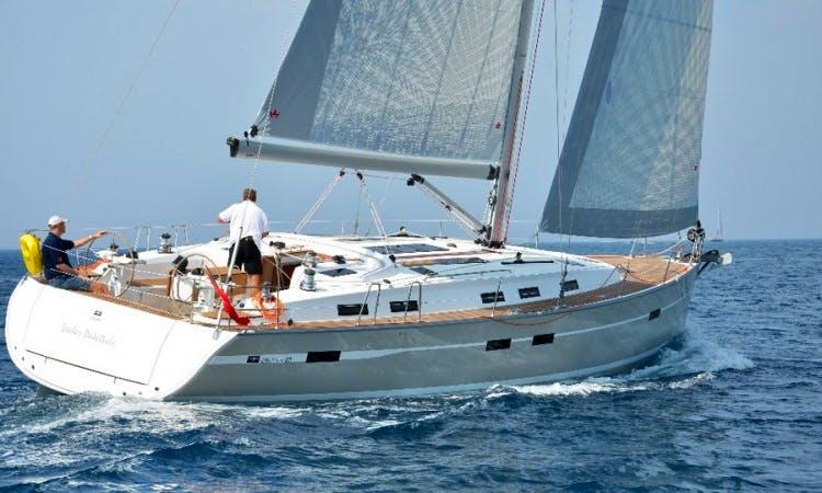 Charter a 50ft Sunrise Bavaria Cruiser Yacht in Sardegna, Italy