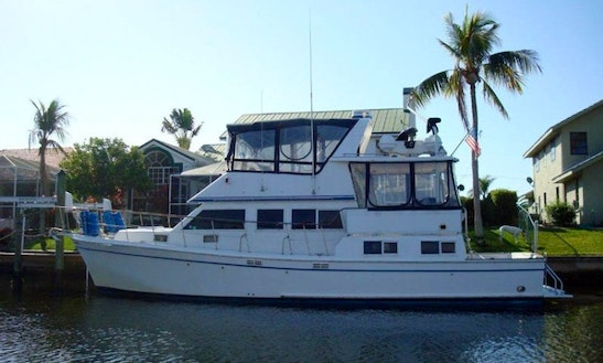 Charter 44' Marine Trader Yacht In Cape Coral, Florida