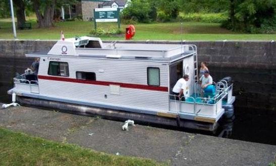 36' Flybridge Houseboat Rental In Smiths Falls, Canada