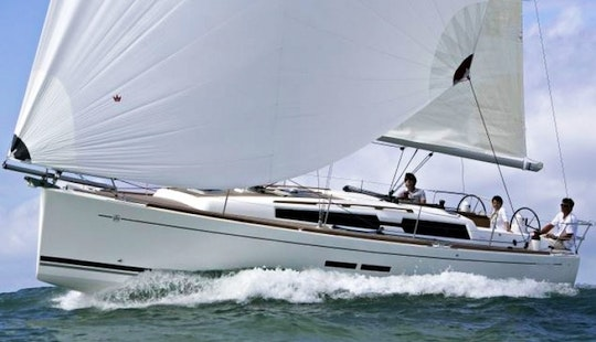 8 People Dufour 375 Grand Large Bareboat Sailing Charter In Sweden