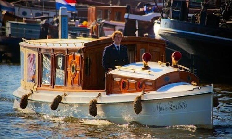 "34ft ""Marie Zurlohe"" Canal Boat Rental in Amsterdam, North Holland"