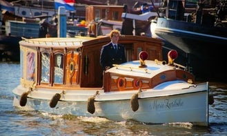 """34ft """"Marie Zurlohe"""" Canal Boat Rental in Amsterdam, North Holland"""