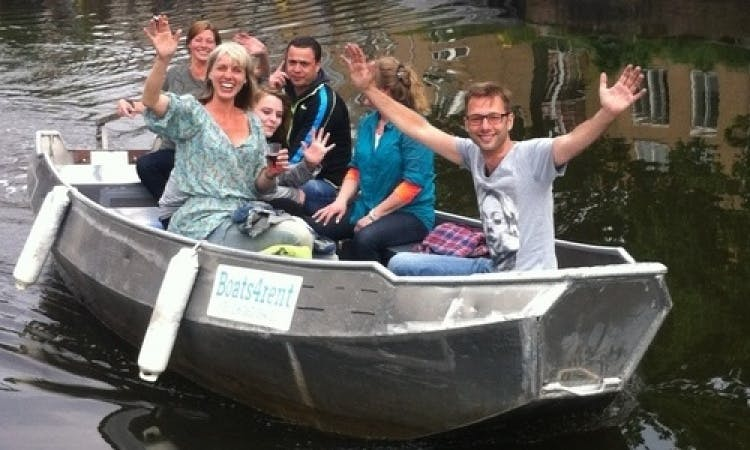 18ft Canal Open Boat Rental in Amsterdam, North Holland