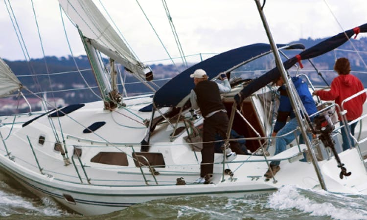 """""""Gentle Storm II"""" 42 Sailing Monohull Tours in Sausalito"""