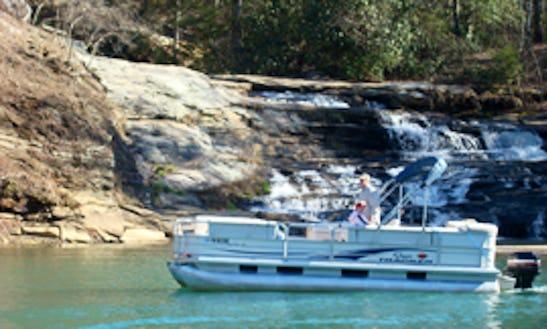 20ft Suntracker Pontoon Boat Rental In Six Mile, South Carolina