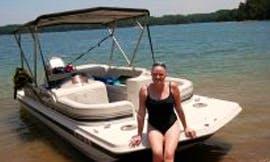 18ft Hurricane Fun Deck Boat Rental In Six Mile, South Carolina