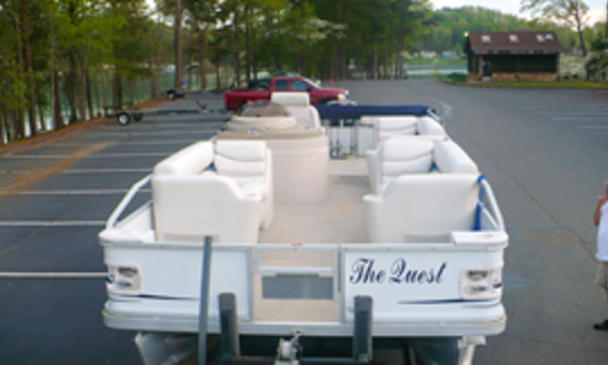 22ft Crest Ski Pontoon Boat Rental In Six Mile, South Carolina