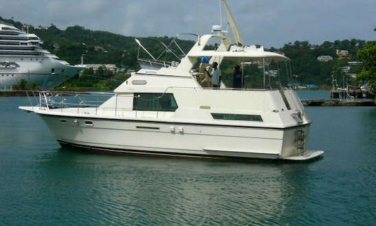 Hatteras Motor Yacht For Charter In St Lucia