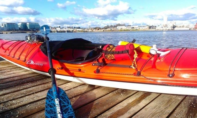 Rent a Composite Kayak in Victoria's Upper Harbour