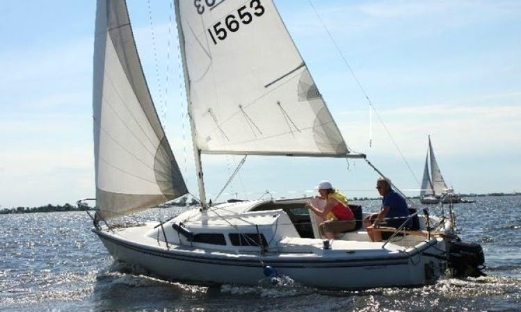 Catalina 22 sailing yacht charter in Sneek