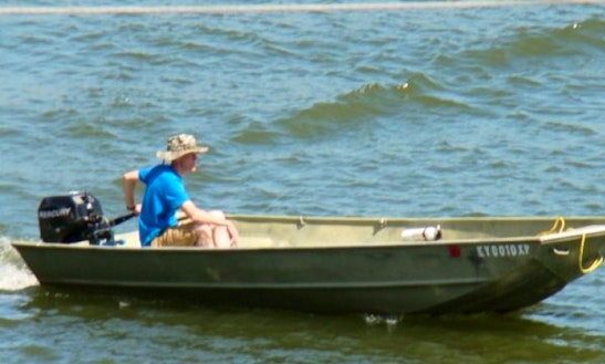 Rent A 16' Jon Boat With 30hp E-tec Outboard On Kentucky Lake