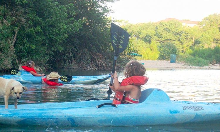 Single Kayak Rental in Spring Branch, Texas