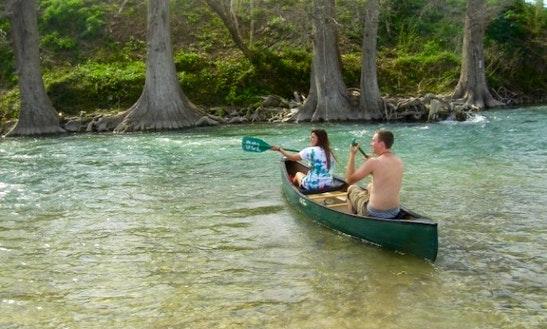 Canoe Rental In Spring Branch, Texas