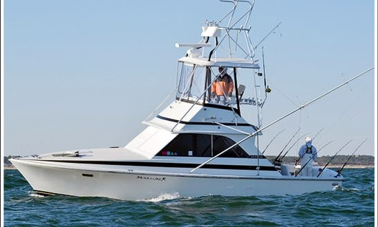 Fishing Charter On 35' Sports Fisherman Yacht In Manteo, North Carolina