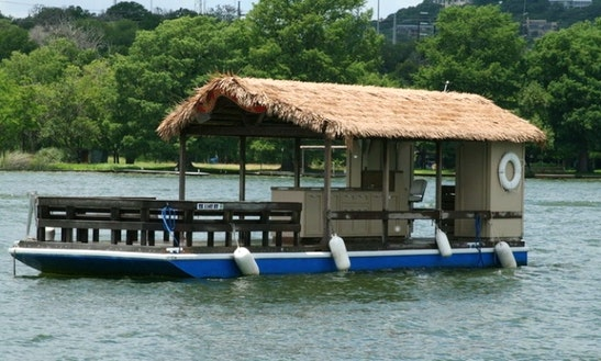 42ft Tiki Boat In Lake Austin, Texas