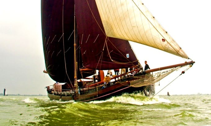 87ft Willem Jacob Clipper Charter for Up to 39 People in Groningen, Netherlands
