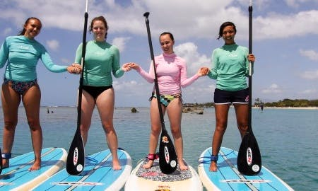 SUP in the beautiful waters of Honolulu, Hawaii