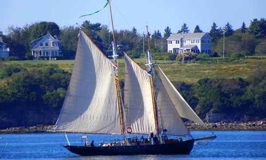 70' Schooner Rental In Harpswell, Maine