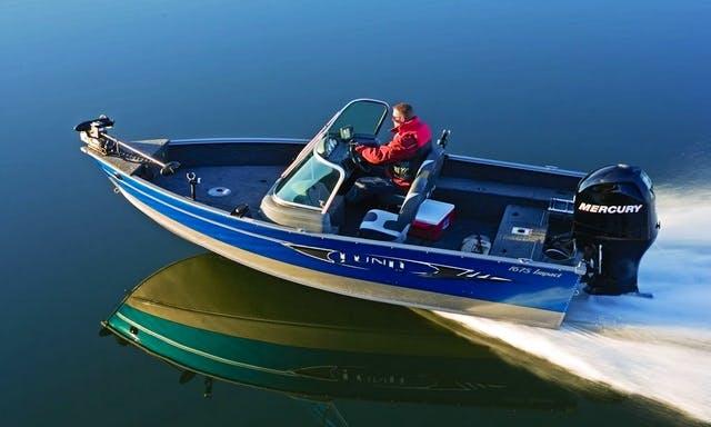 Lund 17' Runabout Bass Boat Rental in Curtis, MI