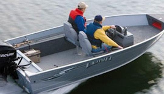 16' Bass Boat Rental In Curtis, Mi