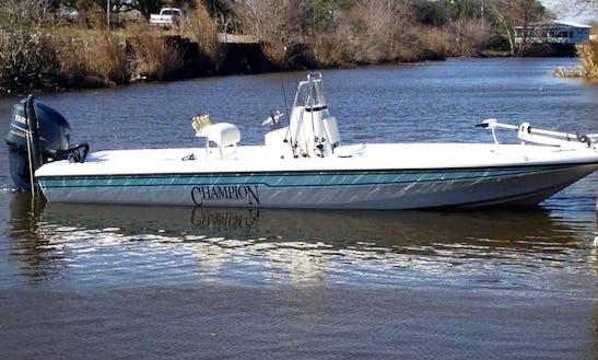 Louisiana Fishing Charter On 24' Champion Bay Boat