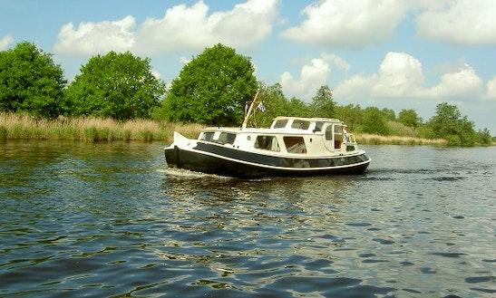 Canal Boat 33' Charter In Haskerdijken, Netherlands
