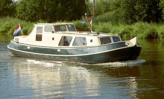 Canal Boat 36' In Haskerdijken, Netherlands