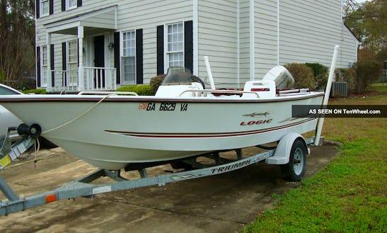 19' Deck Boat Rental In Warren, Ri