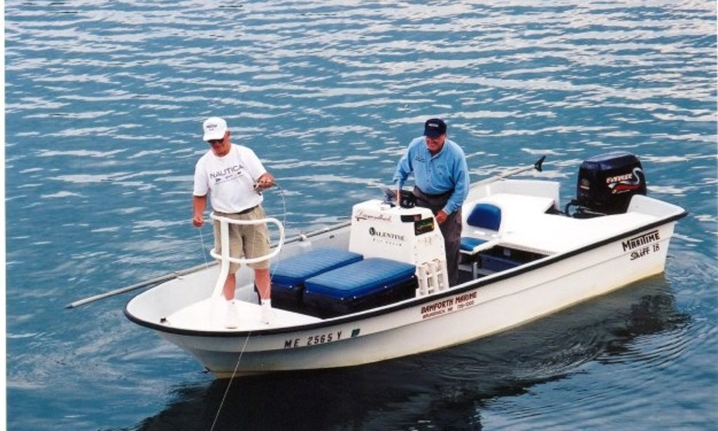 Fly fishing boat rental in brunswick me getmyboat for Fly fishing guides near me