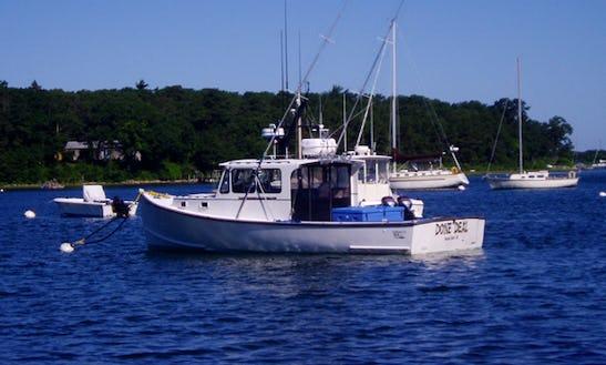 35ft Sportfisherman Boat Charter Fishing In Tisbury, Massachusetts