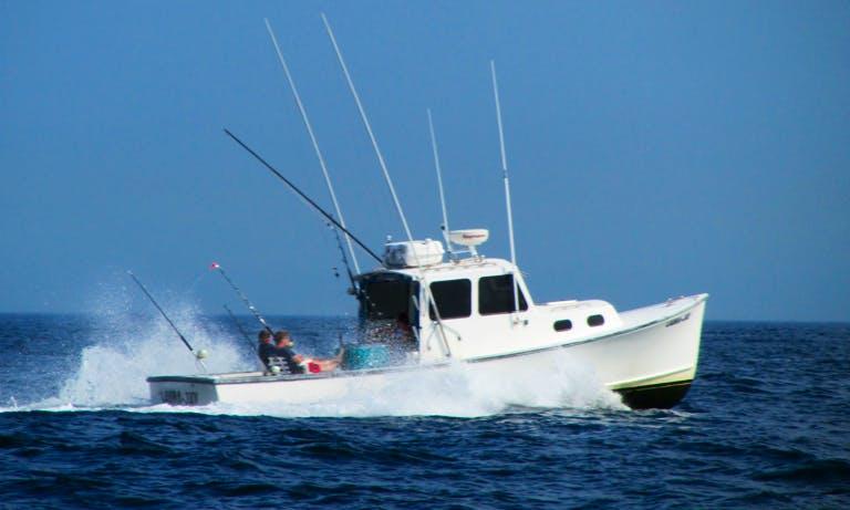 "31ft ""The Laura-Jay"" Sportfisherman Boat Charter in Sandwich, Massachusetts"