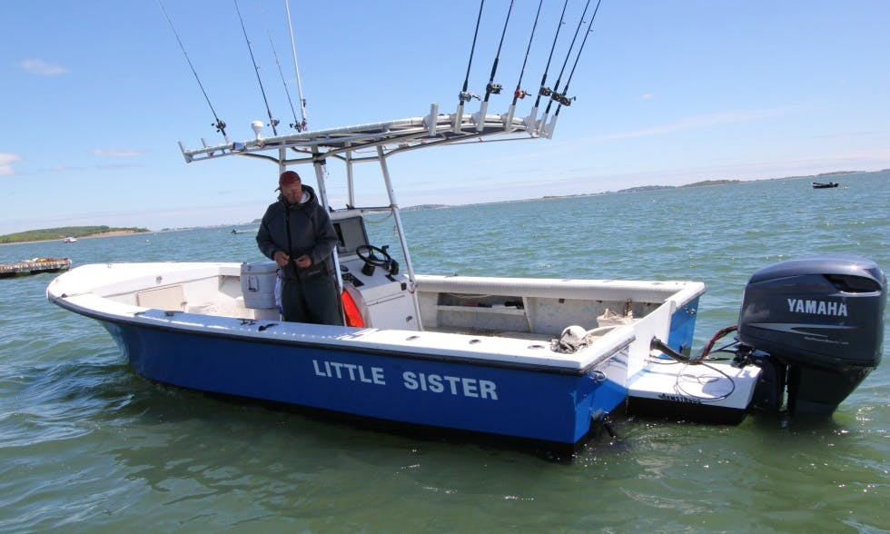 "21ft ""Little Sister"" Center Console Fishing Charter in Quincy, Massachusetts"