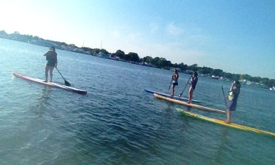 Enjoy A Stand-up Paddleboard Rental In Clinton, Connecticut