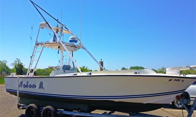 Sportfish on 26' Center Console Rental on Cape Cod & Orleans, Massachusetts