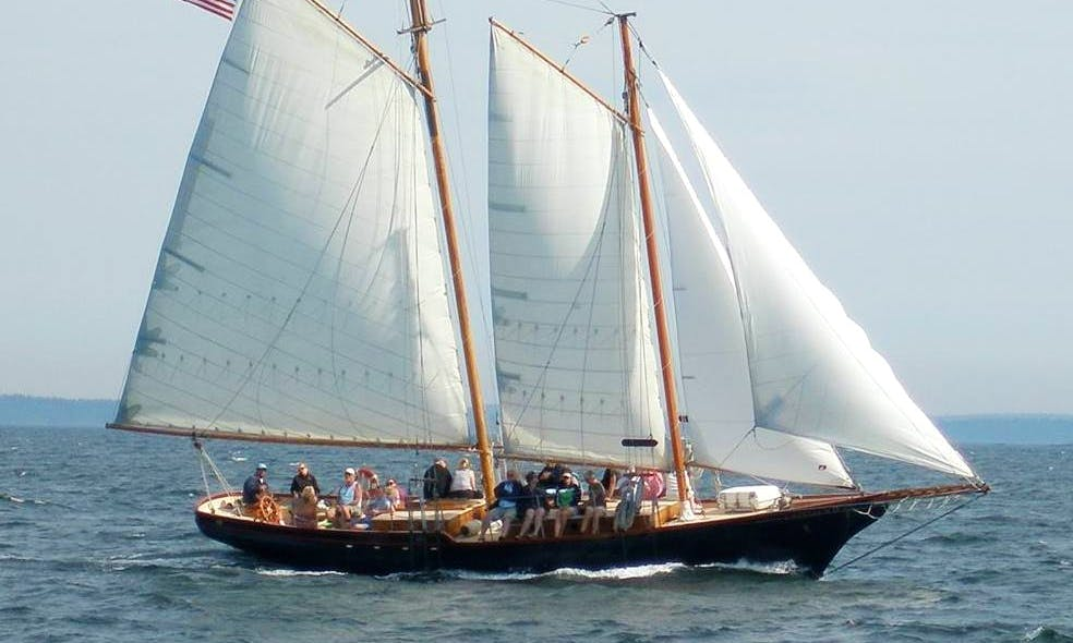 Sail on 58ft Lazy Jack II Schooner Boat Charter in Camden, Maine