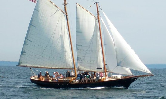 58ft Lazy Jack Ii Schooner Boat Charter In Camden, Maine