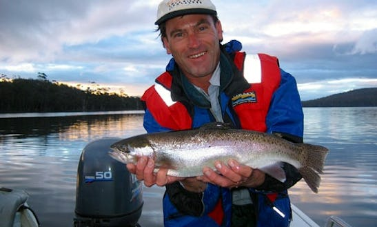 Trout Fishing Guide And Custom Quintrex Wildfish In Tasmania