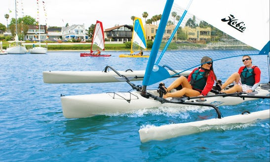Hobie Tandem Island Tandem Kayak With Sail Rental In Chicago