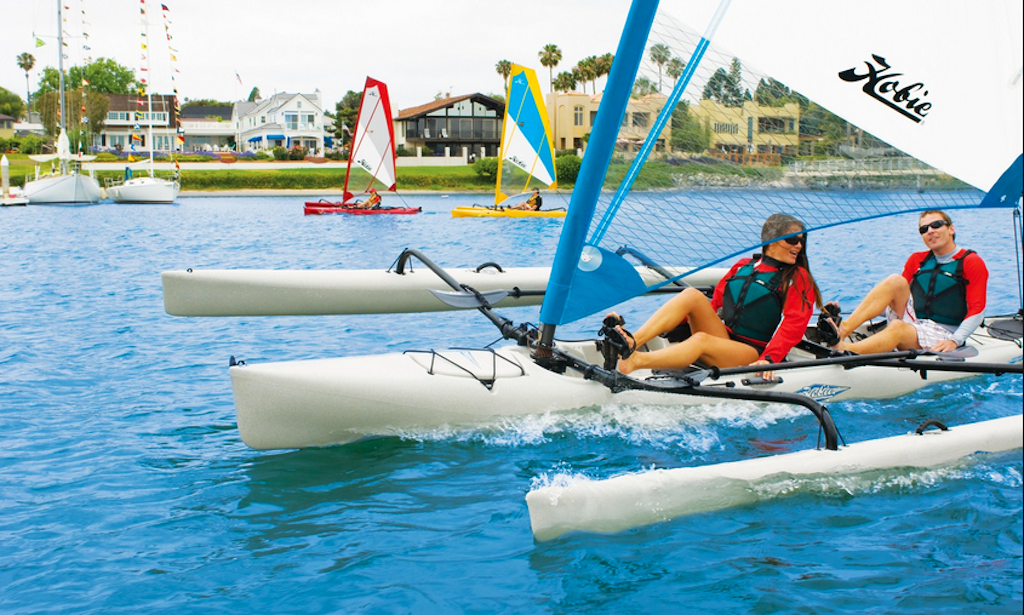 Hobie Tandem Island Kayak With Sail Rental In Chicago