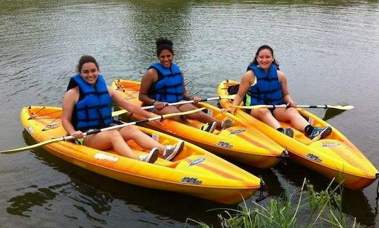 Single Kayak Rentals On The San Antonio River
