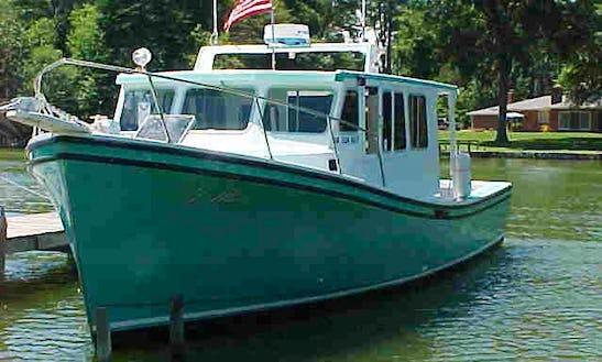 Fishing Charter On 42' Fiberglass Fishing Boat In Reedville, Virginia