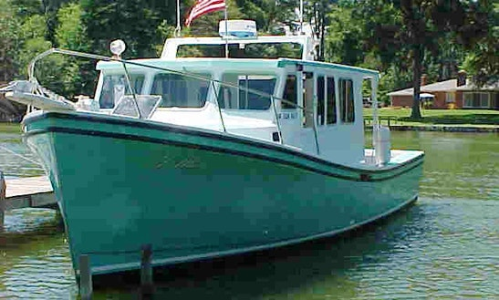 Fishing Charter On 42' Fiberglass Fishing Boat In Reedville, Virginia